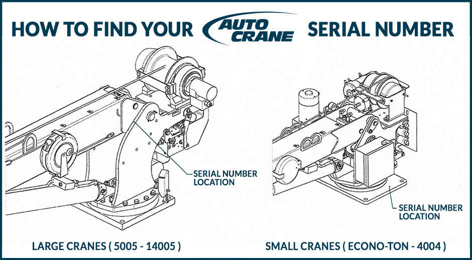 How To Find Your Auto Crane Serial Number